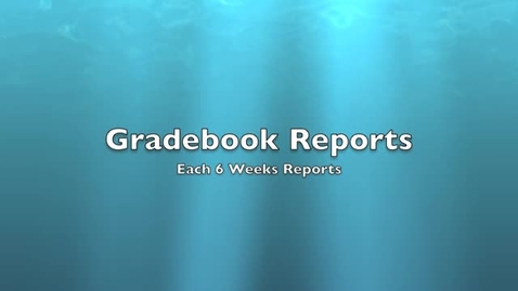 Thumbnail for entry Gradebook Reports in Angel