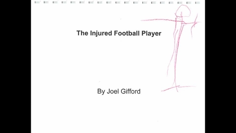 Thumbnail for entry The Injured Football Player