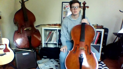 Thumbnail for entry Week 2: 3rd Grade Cello Lesson