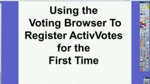 Thumbnail for entry ActivInspire Register ActiVotes in Voting Browser