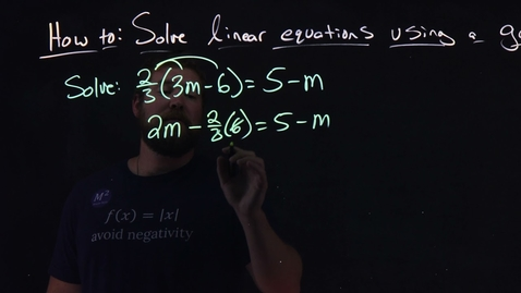 Thumbnail for entry How to Solve Linear Equations Using a General Strategy | Minute Math