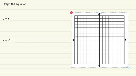 Thumbnail for entry Graphing Horizontal and Vertical Lines