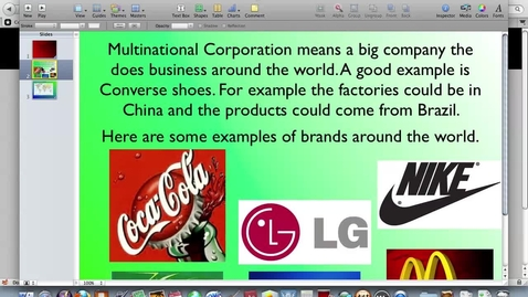 Thumbnail for entry nick's multinational corporation 2