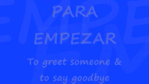 Thumbnail for entry greetings&farewell