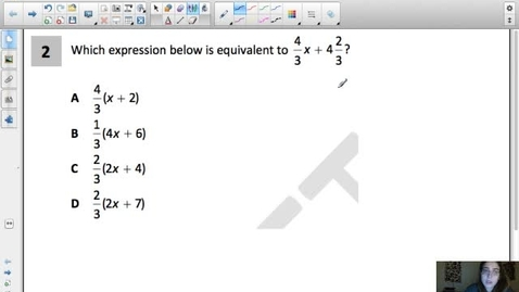 Thumbnail for entry Expressions & Equations 4