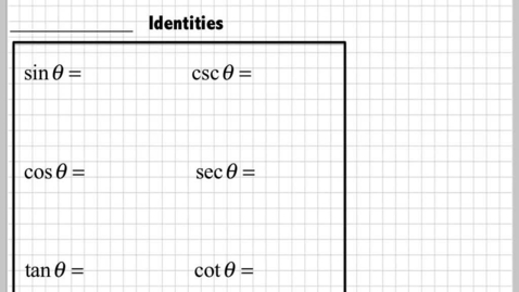 Thumbnail for entry Intro to Trig Identities