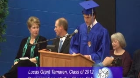 Thumbnail for entry Ladue High School Graduation Ceremony 2012 - Presentation of the Class Gift