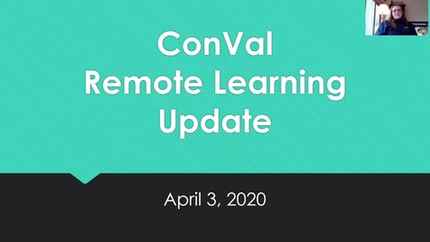 Thumbnail for entry Remote Learning Update April 4, 2020