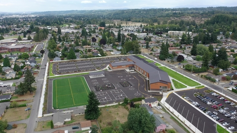 Thumbnail for entry Pioneer Elementary Drone Footage Site Progress September 2021