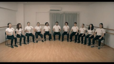 Thumbnail for entry Body Avlaia Group -  In the hall of the body percussion king