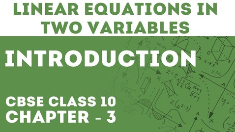 Thumbnail for entry Introduction of Pair Of Linear Equations In Two Variables |  Letstute