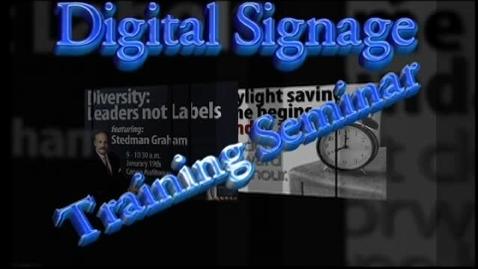 Thumbnail for entry Digital Signage Seminar Part1