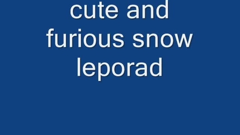 Thumbnail for entry Snow Leopards By: Marc and Taufiq