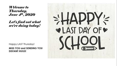 Thumbnail for entry Morning Message Thursday, June 4th.webm