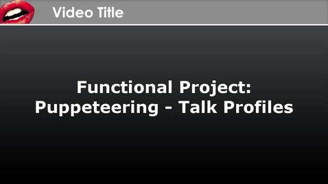 Thumbnail for entry CrazyTalk Animator Functional Project - Talk Profiles