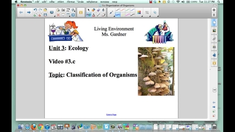 Thumbnail for entry Video 3.c Classification of Organism