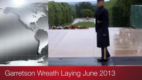 Thumbnail for entry Garretson Wreath Laying, Arlington Cemetery