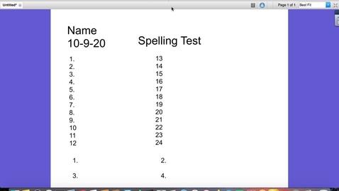 Thumbnail for entry Video 3-Spelling Test