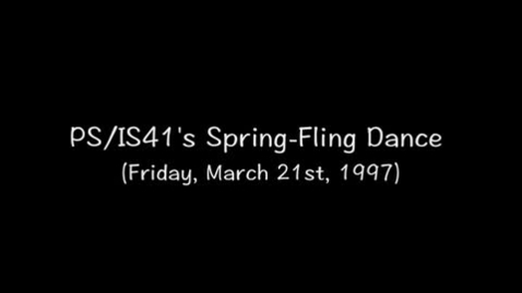 Thumbnail for entry (1997) Spring Fling Dance (Friday, March 21st)
