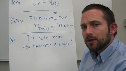 Thumbnail for entry Vocabulary Unit Rate