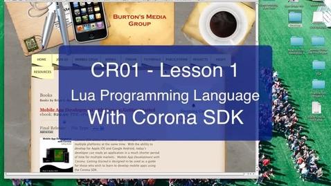 Thumbnail for entry 01 Corona-Lua SDK Hello World