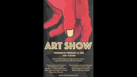 Thumbnail for entry Art Show Attracts Local Art Students in District