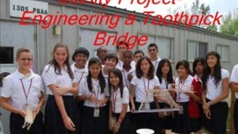 Thumbnail for entry Engineering a Toothpick Bridge