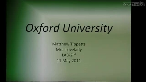 Thumbnail for entry Tippetts' Oxford Presentation
