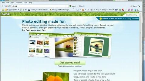 Thumbnail for entry Using Picnik