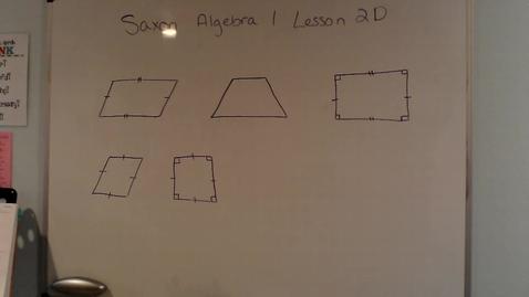 Thumbnail for entry Saxon Algebra 1 Lesson 2D