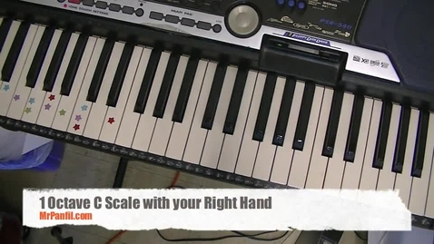 Thumbnail for entry C Scale on Piano: 1 octave, right hand