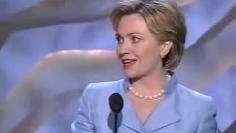 Thumbnail for entry Hillary Clinton Convention Speech 2000