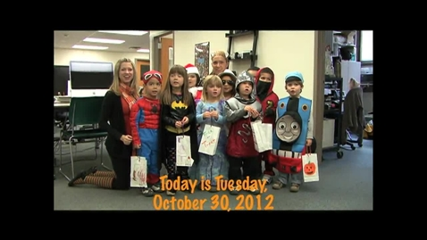 Thumbnail for entry Tuesday, October 30, 2012
