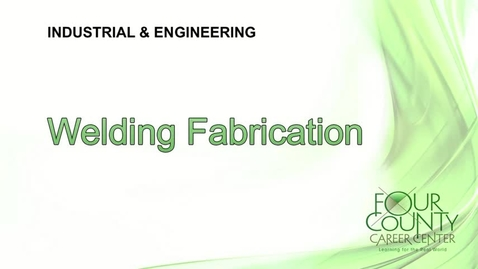 Thumbnail for entry FCCC - Welding Fabrication 2017