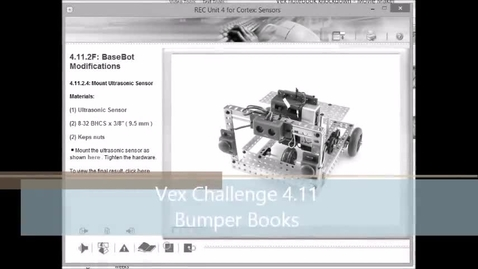 Thumbnail for entry Vex Robotics 4.11 Bumper Books