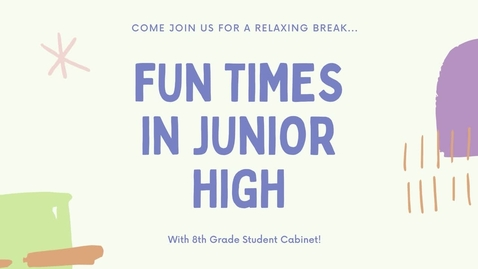 Thumbnail for entry MS74 - Fun Times at Junior High - 8th Grade Cabinet