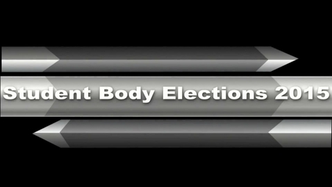 Thumbnail for entry Student Council Nominee Speech: Brian Villalobos