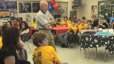 Thumbnail for entry Astronaut Dr. Story Musgrave visits Stewart Middle Magnet