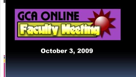 Thumbnail for entry GCA Faculty 10032009