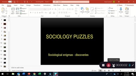 Thumbnail for entry MYSTERIOUS SOCIOLOGICAL DISCOVERIES