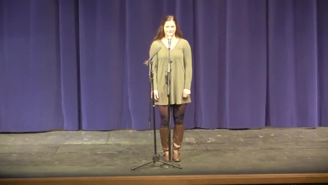 Thumbnail for entry Poetry Out Loud 2017 Elisa Larson