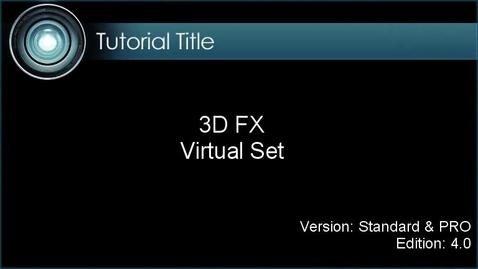 Thumbnail for entry iClone Tutorial - Virtual Studio