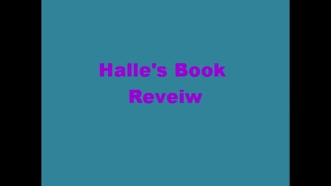 Thumbnail for entry 13-14 Hodges Halle Book Review