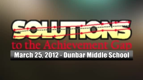 Thumbnail for entry Solutions to the Achievement Gap