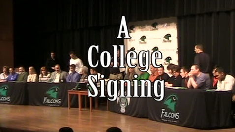 Thumbnail for entry Staley Students Sign With College