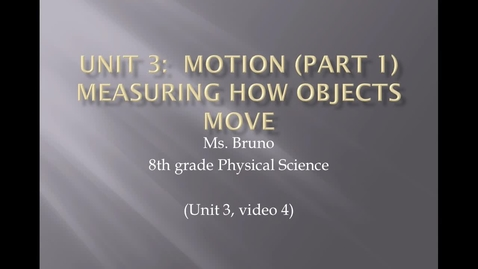 "Thumbnail for entry Unit 3 Motion, Video 4 ""Acceleration"""