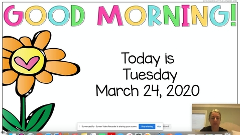 Thumbnail for entry Morning Meeting March 24, 2020