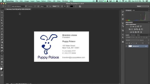 Thumbnail for entry Saving from Photoshop as a PDF