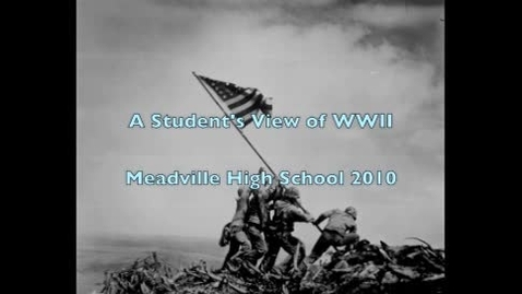 Thumbnail for entry A student's view of WW2