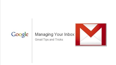 Thumbnail for entry Managing your mailbox